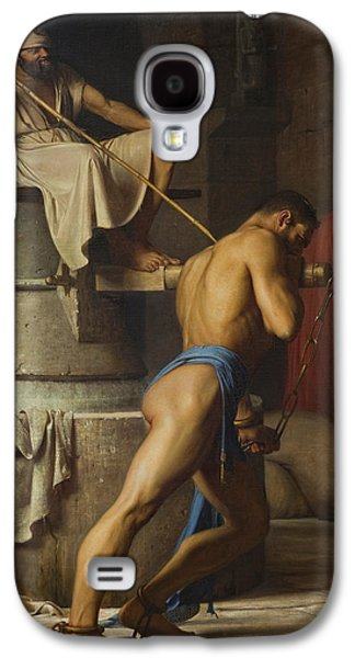 Samson And The Philistines Galaxy S4 Case by Carl Bloch