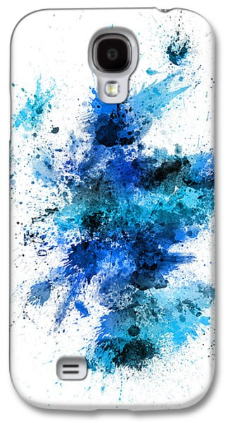 Scotland Paint Splashes Map Galaxy S4 Case by Michael Tompsett