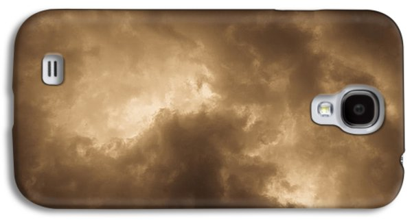 Summer Storm Galaxy S4 Cases - Sepia Clouds Galaxy S4 Case by David Pyatt