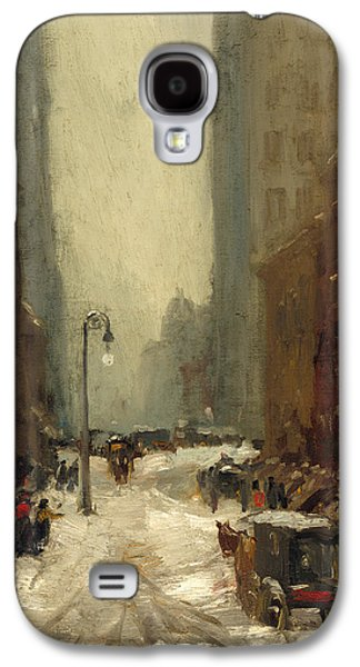 Snow In New York Galaxy S4 Case by Robert Henri