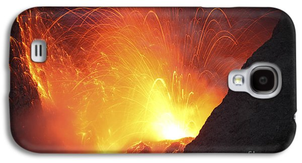 Strombolian Type Eruption Of Batu Tara Galaxy S4 Case by Richard Roscoe