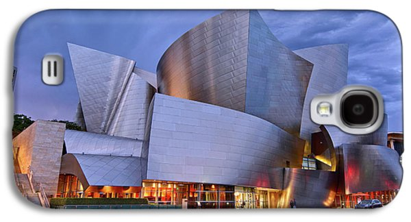 Stainless Steel Galaxy S4 Case - Sunset At The Walt Disney Concert Hall In Downtown Los Angeles. by Jamie Pham