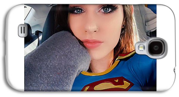 Supergirl Galaxy S4 Case by Marvin Blaine