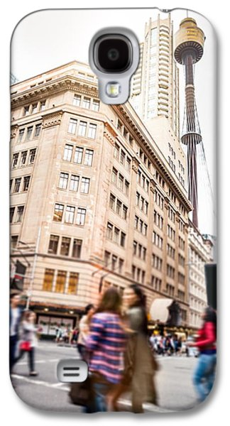 Sydney Downtown, Blurred Intersection People And Traffic Galaxy S4 Case by Leonardo Patrizi