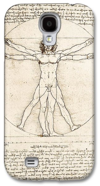 Nudes Galaxy S4 Case - The Proportions Of The Human Figure by Leonardo Da Vinci