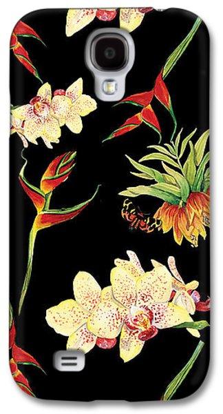 Tropical Island Floral Half Drop Pattern Galaxy S4 Case