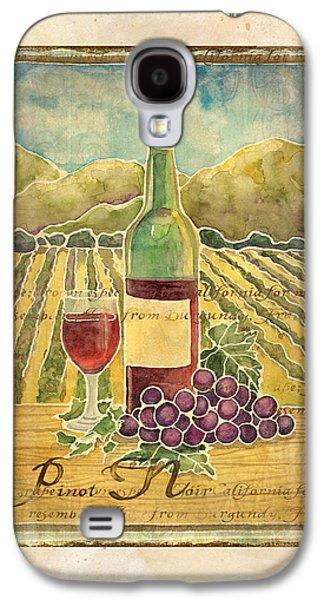 Vineyard Pinot Noir Grapes N Wine - Batik Style Galaxy S4 Case by Audrey Jeanne Roberts