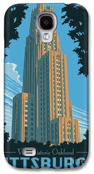 Bridges Galaxy S4 Case - Pittsburgh Poster - Vintage Style by Jim Zahniser