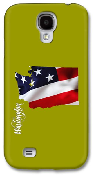 Washington State Map Collection Galaxy S4 Case