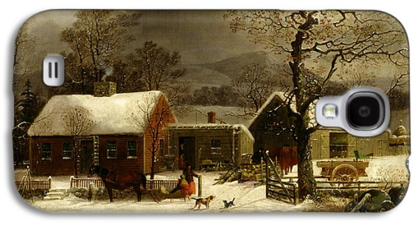 Winter Scene In New Haven, Connecticut Galaxy S4 Case