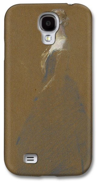 Woman In A Blue Dress Galaxy S4 Case by Thomas Wilmer Dewing