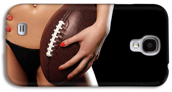 Woman With A Football Galaxy S4 Case by Oleksiy Maksymenko