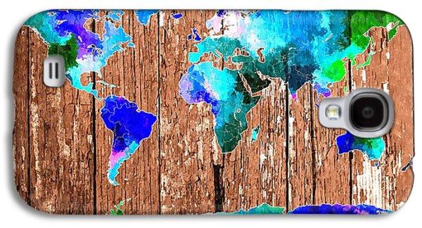 World Map Galaxy S4 Case