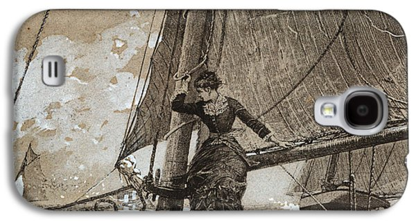 Yachting Girl Galaxy S4 Case by Winslow Homer