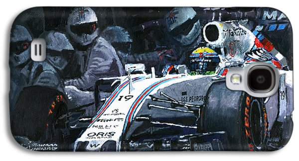 2015 Williams Fw37 F1 Pit Stop Spain Gp Massa  Galaxy S4 Case by Yuriy Shevchuk