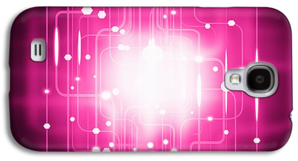 Abstract Circuit Board Lighting Effect  Galaxy S4 Case