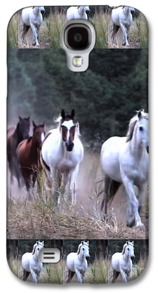 American Wild Horse Mustang On Posters Canvas Pillows Curtains Duvetcovers Phone Cases Tshirts Jerse Galaxy S4 Case