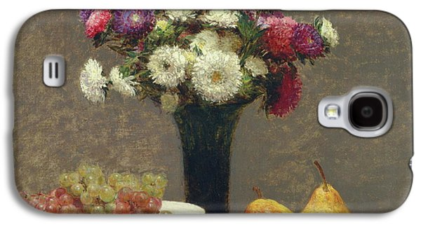 Asters And Fruit On A Table Galaxy S4 Case