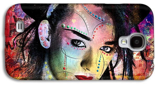 boy George  Galaxy S4 Case by Mark Ashkenazi