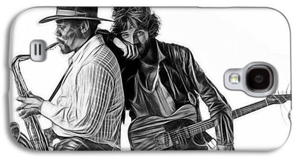 Bruce Springsteen Galaxy S4 Case - Bruce Springsteen Clarence Clemons Collection by Marvin Blaine