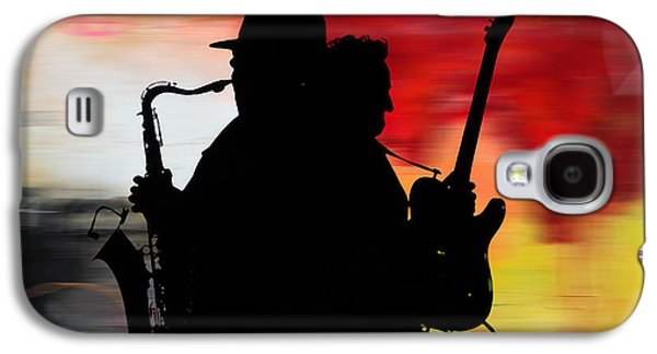 Bruce Springsteen Clarence Clemons Galaxy S4 Case by Marvin Blaine