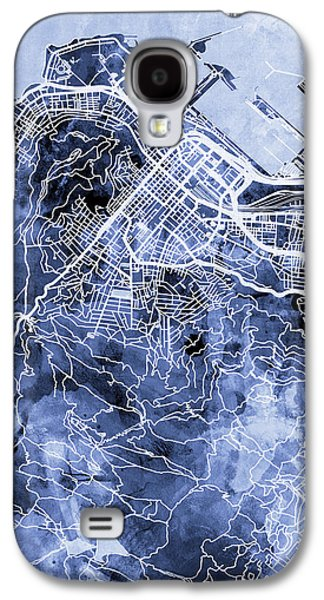Town Galaxy S4 Case - Cape Town South Africa City Street Map by Michael Tompsett
