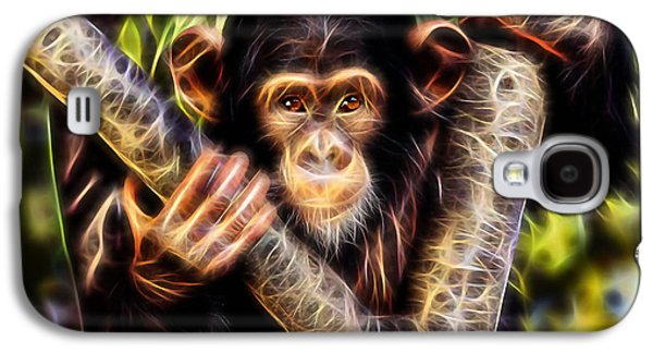 Chimpanzee Collection Galaxy S4 Case by Marvin Blaine