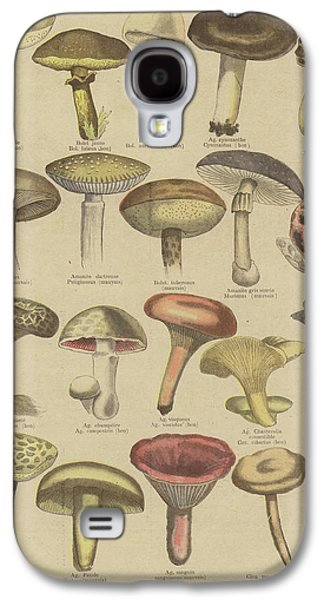 Edible And Poisonous Mushrooms Galaxy S4 Case by French School