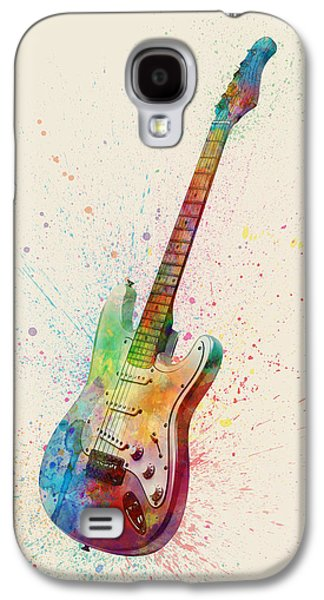 Guitar Galaxy S4 Case - Electric Guitar Abstract Watercolor by Michael Tompsett