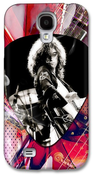 Jimmy Page Led Zeppelin Art Galaxy S4 Case by Marvin Blaine