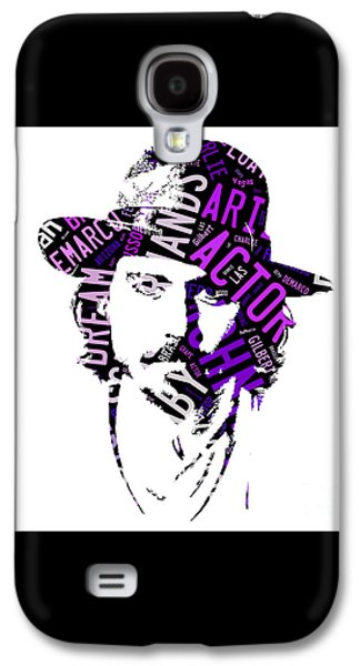 Johnny Depp Movie Titles Galaxy S4 Case by Marvin Blaine
