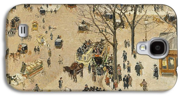 La Place Due Theatre Francais  Galaxy S4 Case by Camille Pissarro