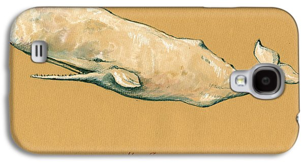 Whale Galaxy S4 Case - Moby Dick The White Sperm Whale  by Juan  Bosco
