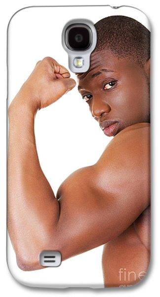 Muscular Black Man Galaxy S4 Case