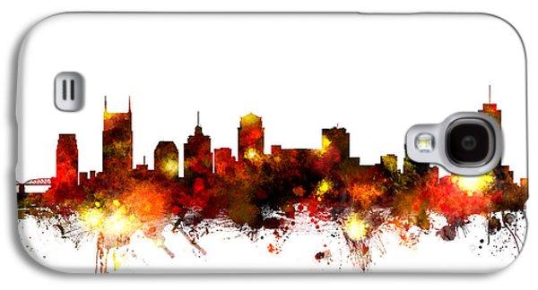 Nashville Skyline Galaxy S4 Case - Nashville Tennessee Skyline by Michael Tompsett