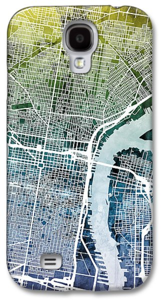 Philadelphia Pennsylvania City Street Map Galaxy S4 Case