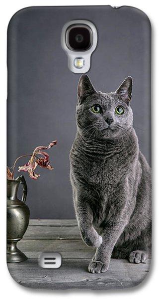 Russian Blue Cat Galaxy S4 Case by Nailia Schwarz