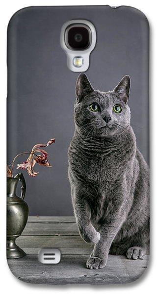 Russian Blue Cat Galaxy S4 Case