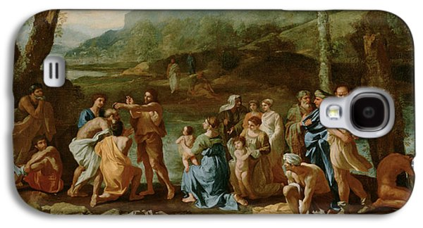 Saint John Baptizing In The River Jordan Galaxy S4 Case by Nicolas Poussin