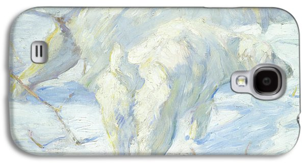 Siberian Dogs In The Snow Galaxy S4 Case by Franz Marc