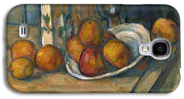 Still Life With Milk Jug And Fruit Galaxy S4 Case by Paul Cezanne