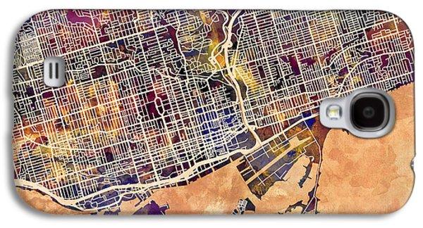 Toronto Street Map Galaxy S4 Case