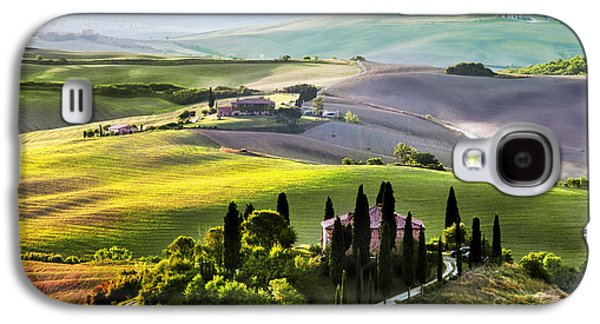 Tuscany Landscape At Sunrise Galaxy S4 Case by Michal Bednarek