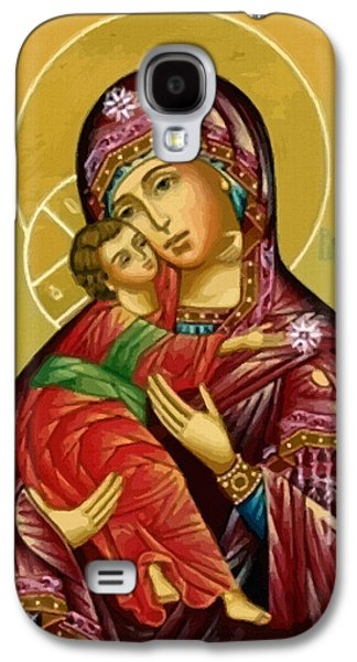 Virgin And Child Painting Galaxy S4 Case by Christian Art