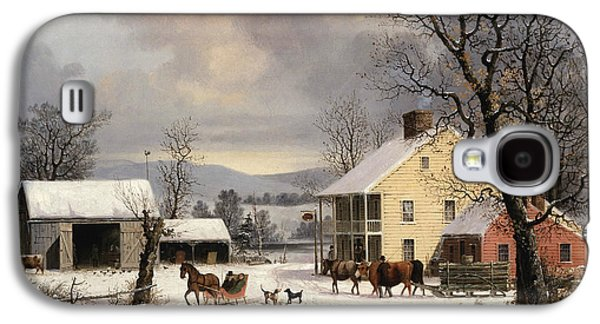Winter In The Country Galaxy S4 Case by George Henry Durrie