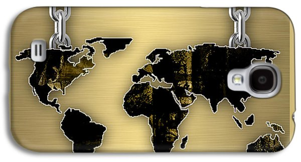 World Map Collection Galaxy S4 Case by Marvin Blaine