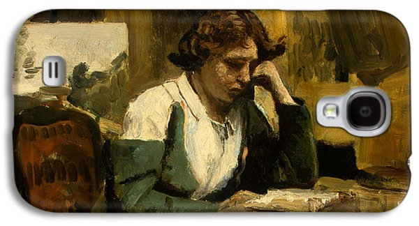 Young Girl Reading Galaxy S4 Case