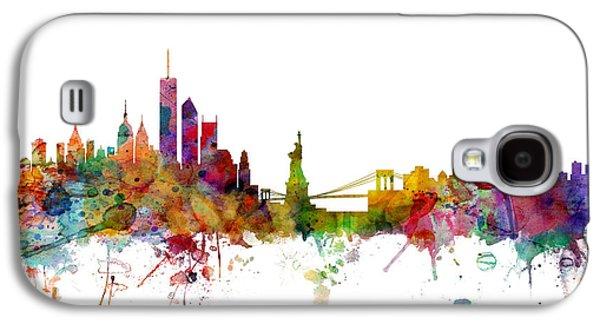 Skyline Galaxy S4 Case - New York Skyline by Michael Tompsett