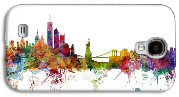 Apple Galaxy S4 Case - New York Skyline by Michael Tompsett