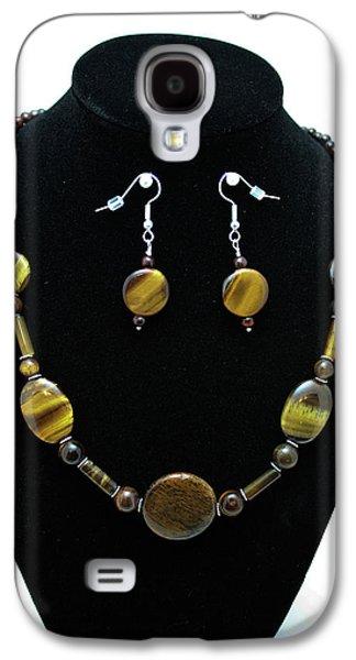 Design Jewelry Galaxy S4 Cases - 3510 Tiger Eye Set Galaxy S4 Case by Teresa Mucha